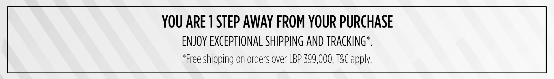 Free shipping on order over LBP 399,000